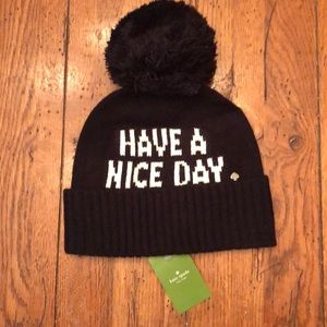 KATE SPADE HAVE A NICE DAY BEANIE